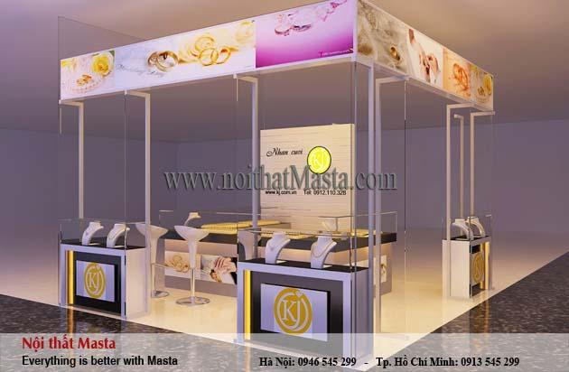 Thiết kế gian hàng nữ trang anh Bình - Nam Định1