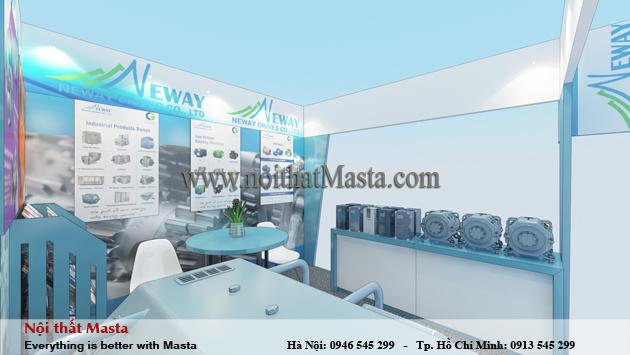 Thiết kế gian hàng triển lãm - công ty Neway2