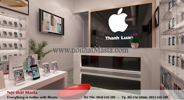 Thiết kế nội thất cửa hàng điện thoại anh Luân - Quảng Ninh1