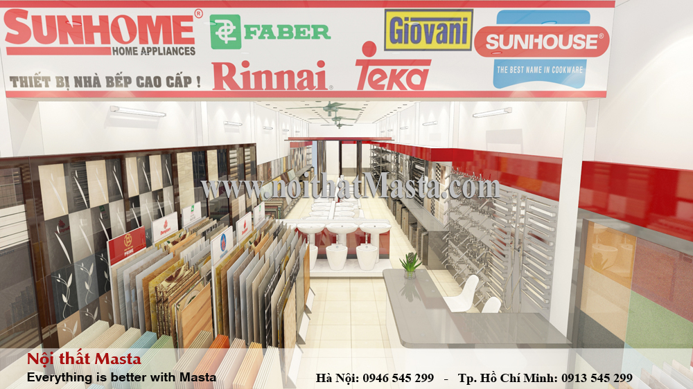 thiet ke showroom gach men
