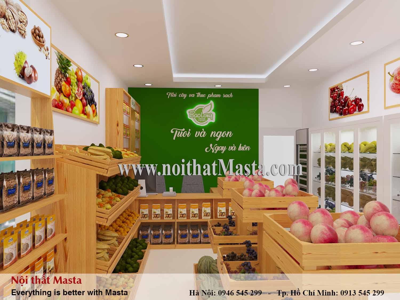 Thiết kế cửa hàng thực phẩm sạch chị Nga - Bình Thạnh