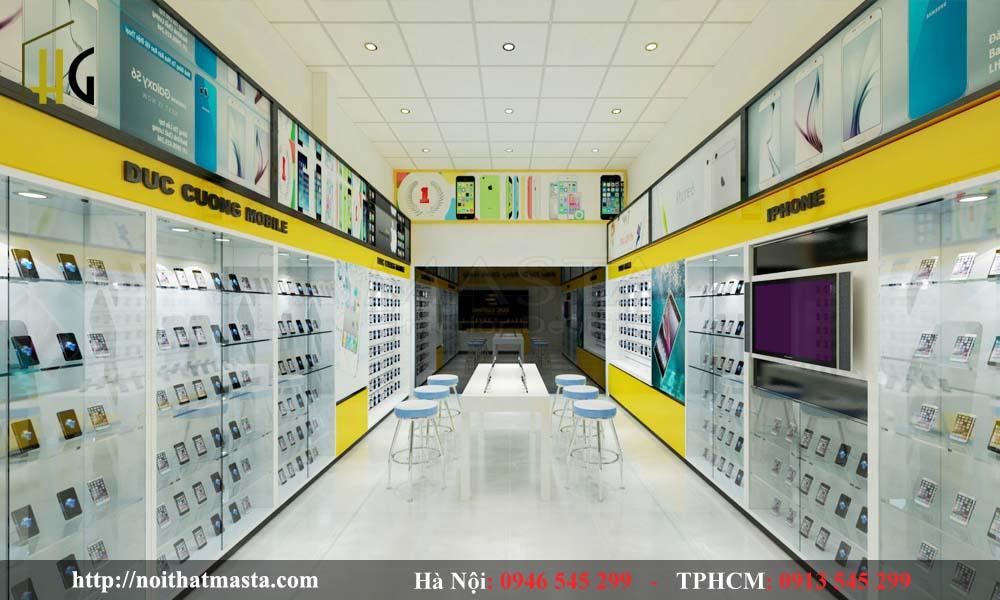 Thiết kế cửa hàng điện thoại anh Cường- HY