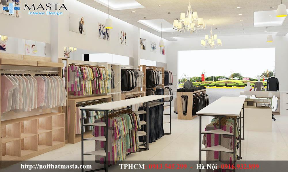 thiết kế cửa hàng thời trang nam nữ đẹp