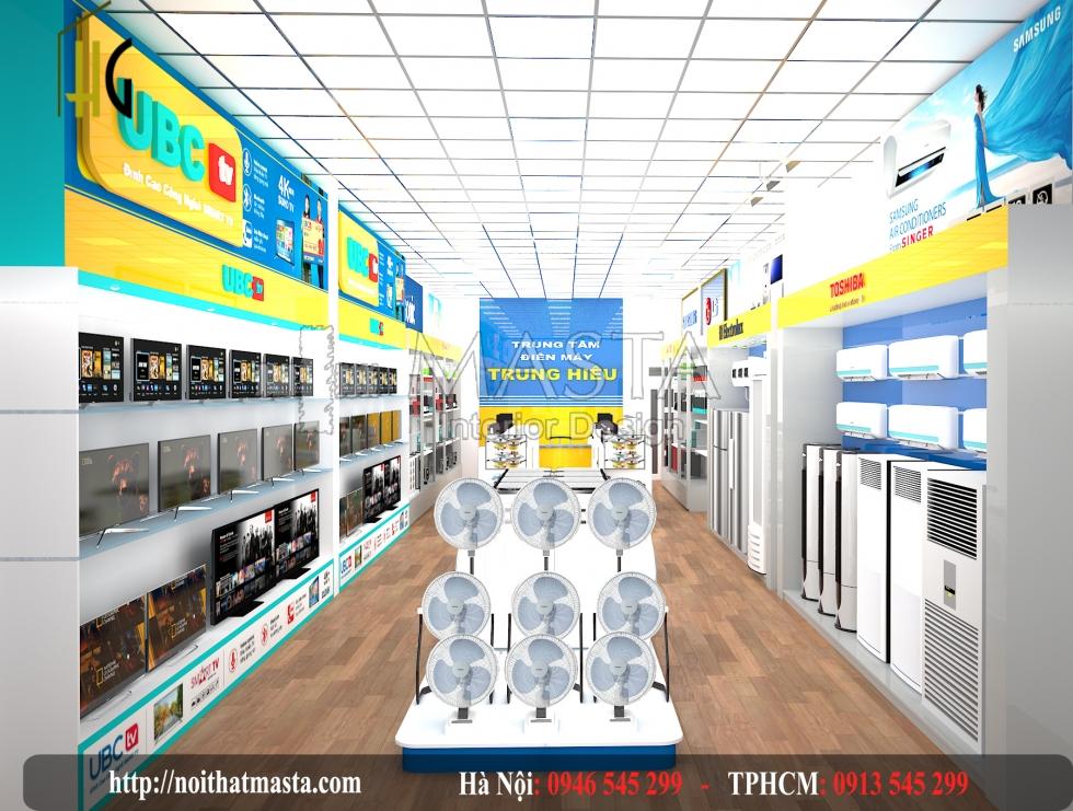 Thiết kế cửa hàng điện máy điện thoại