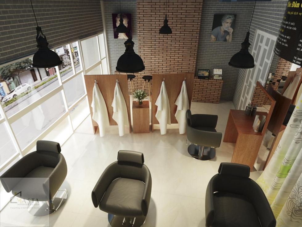 Khu vực cắt tóc của một salon theo phong cách tân cổ điển