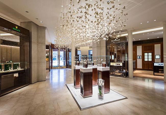 Thiết kế nội thất tiệm vàng sang trọng