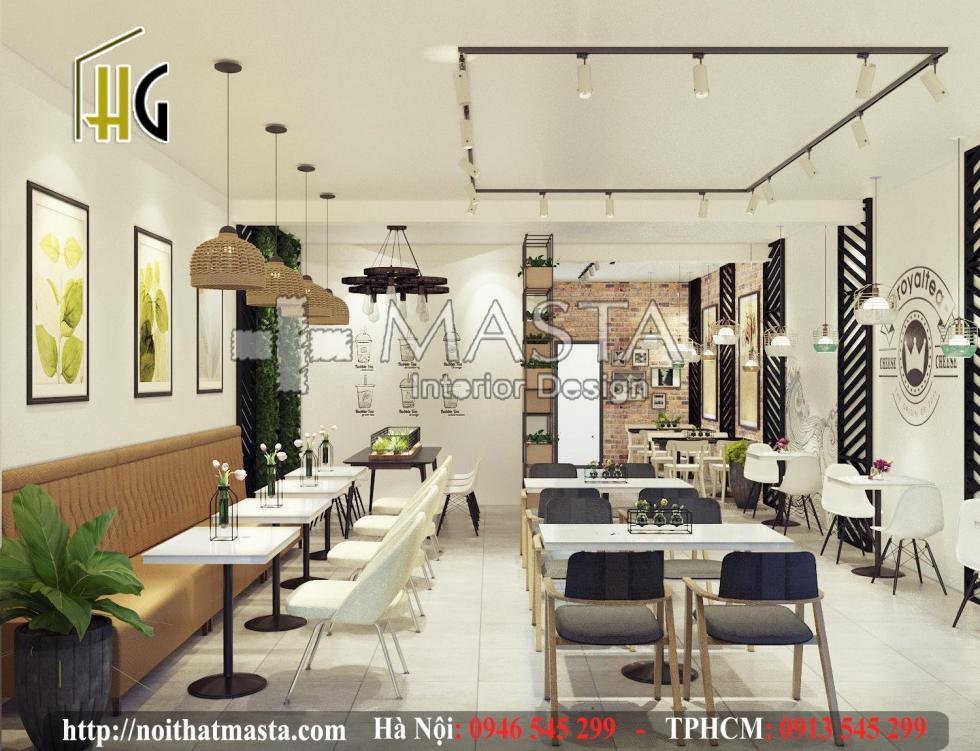 Thiết kế và thi công quán trà sữa Royal Tea - by Nội thất Masta