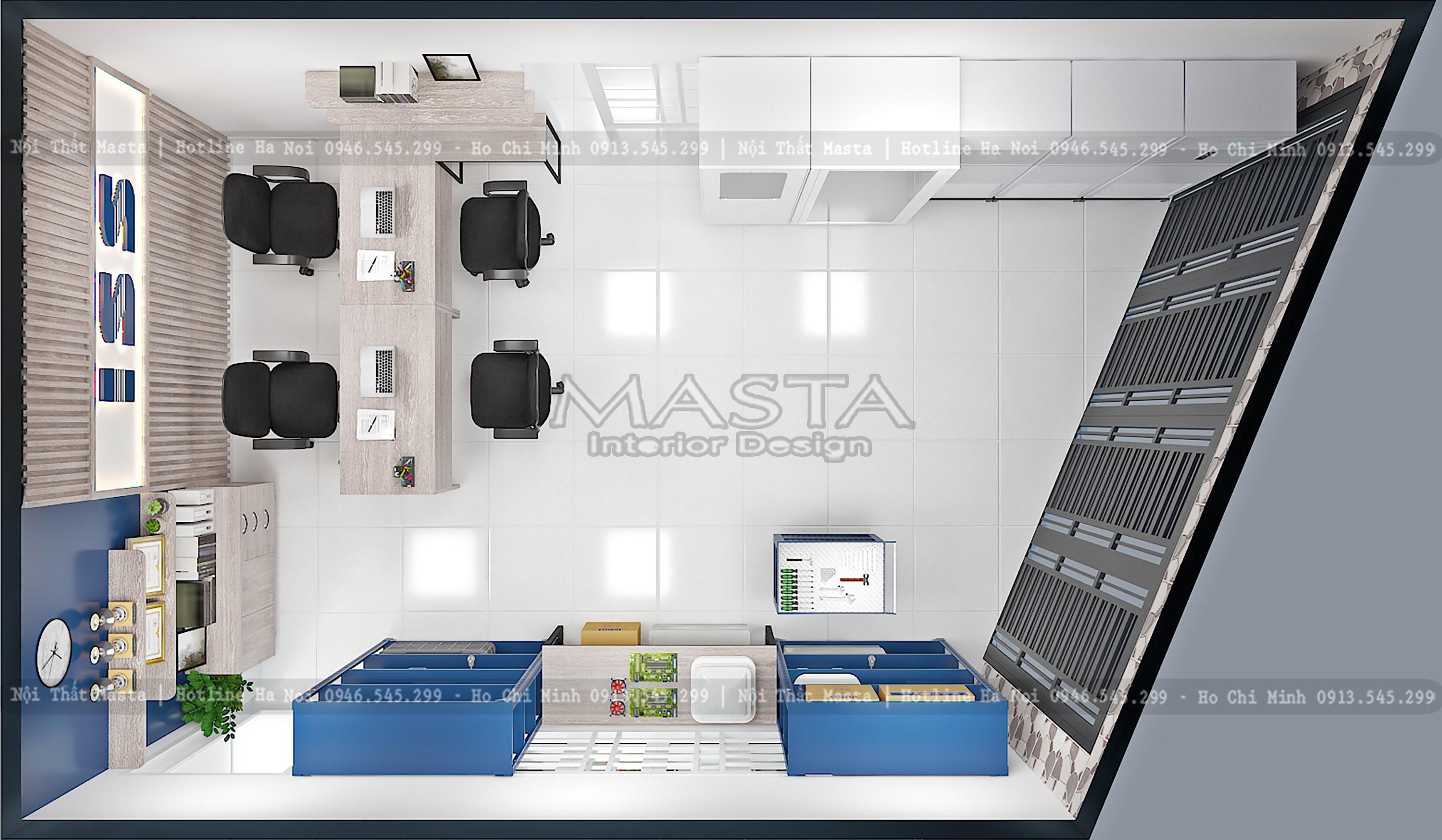 Tổng thể thiết kế showroom ISS