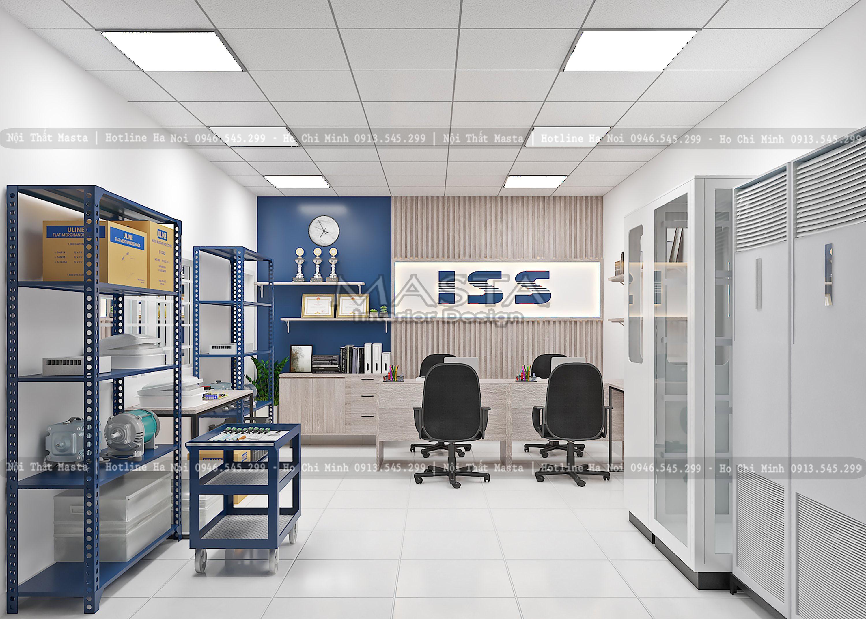 Thiết kế nội thất showroom trưng bày ISS