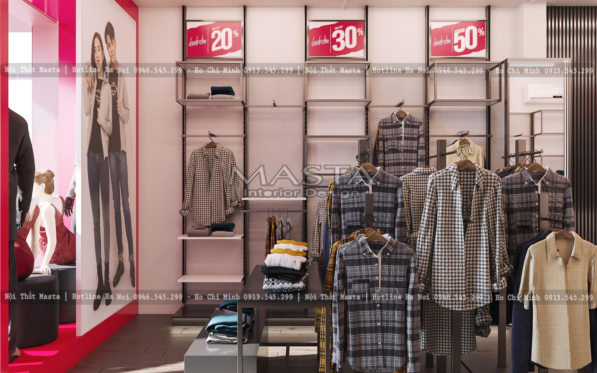 Hệ kệ giữa cửa hàng nhằm tăng không gian trưng bày sản phẩm