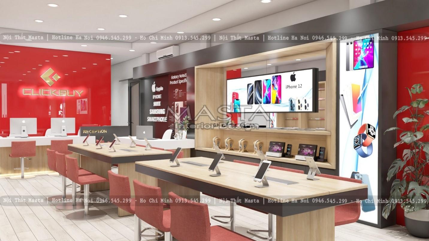 Thiết kế chuỗi cửa hàng điện thoại CLICK BUY