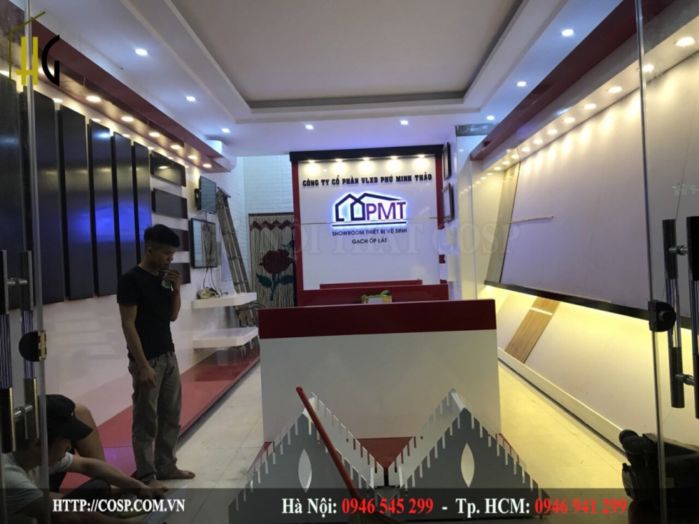 thi cong showroom tbvs van don 2