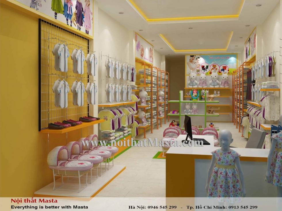 Thiết kế cửa hàng bán đồ trẻ em