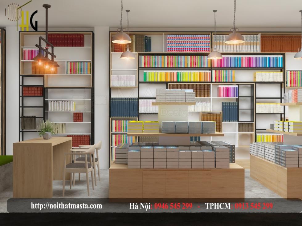 thiết kế cửa hàng sách đẹp