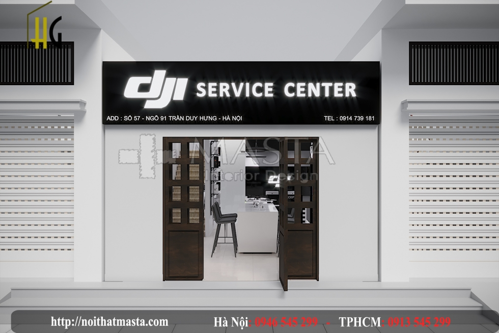 thiết kế shop điện thoại máy tsinh