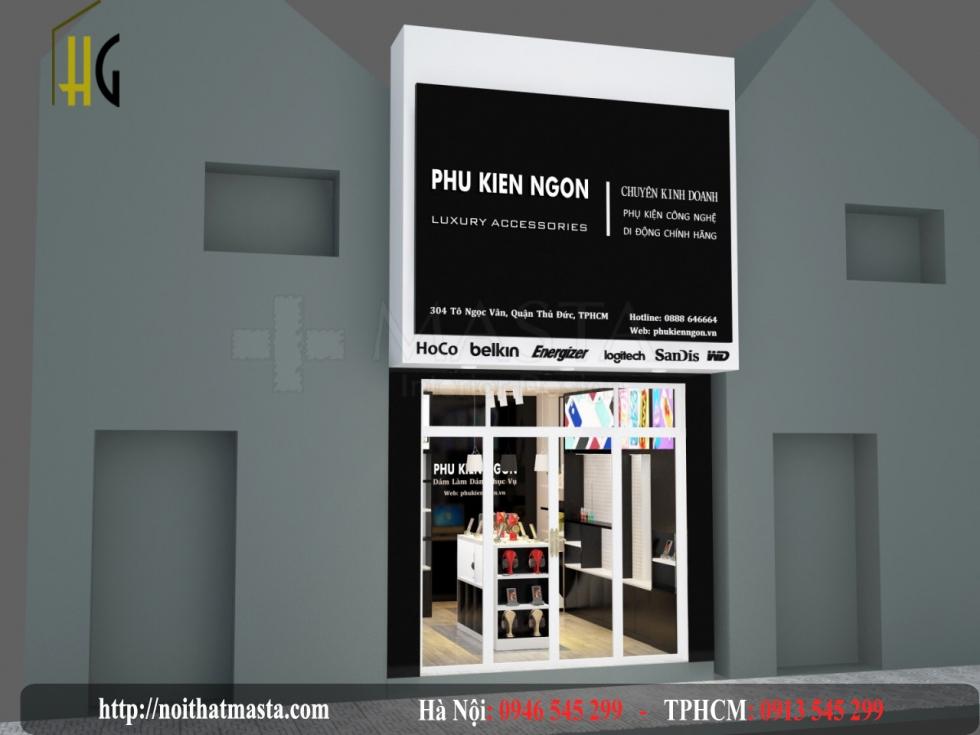 thiết kế cửa hàng điện thoại anh dũng