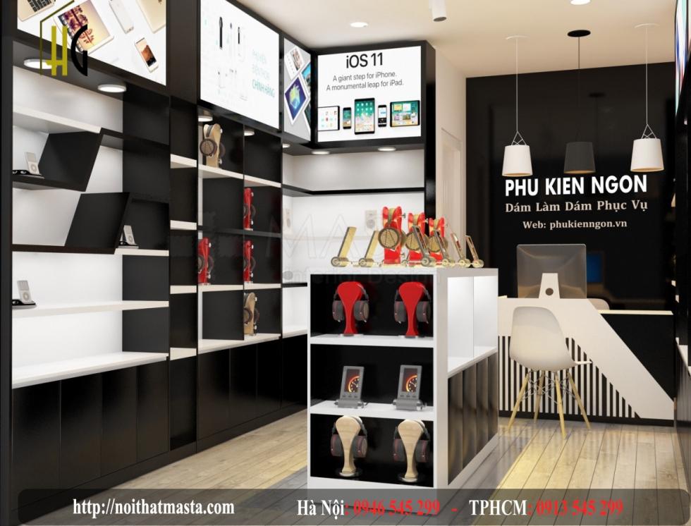 thiết kế cửa hàng điện thoại máy tính
