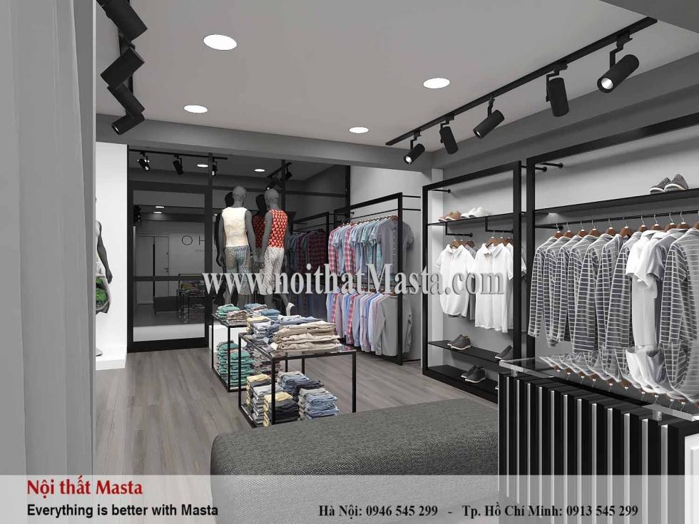 Thiết kế shop quần áo thời trang nam anh Dương tại Quận 3