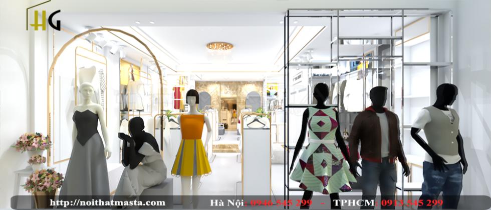 thiết kế shop thời trang Anh Thuận 5