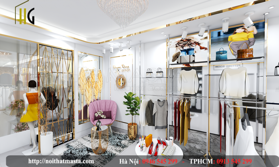 thiết kế shop thời trang Anh Thuận 6