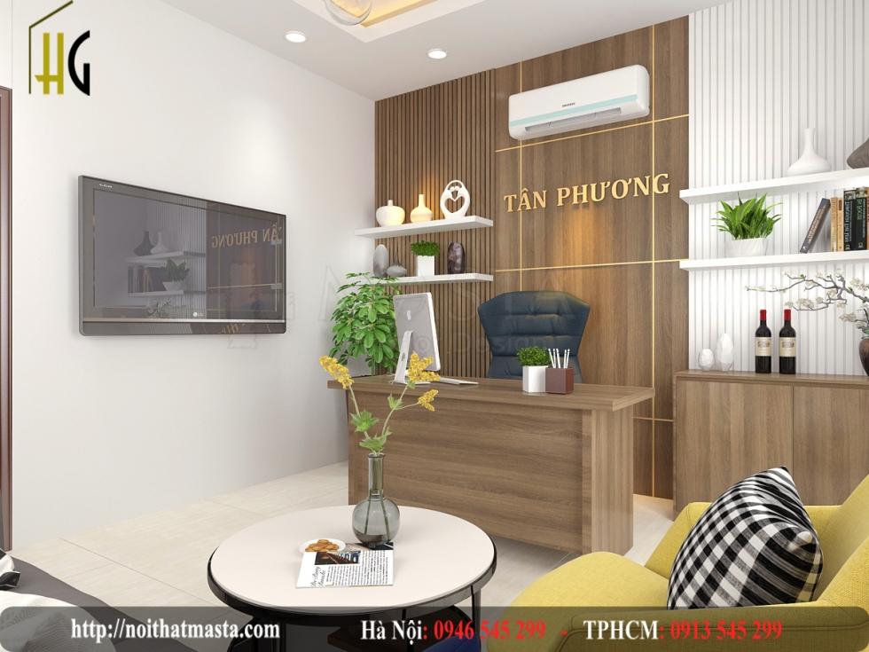 Thiết kế văn phòng showroom thiết bị vệ sinh anh Tân - HCM